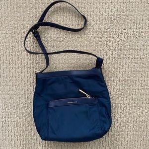 Michael Kors Blue Nylon Messenger Bag